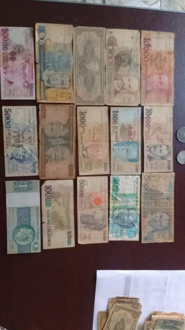 Seeing collection of old Brazilian coins