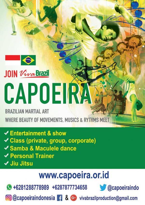 Viva Brasil Capoeira Indonesia Yakarta (arte marcial brasileño)