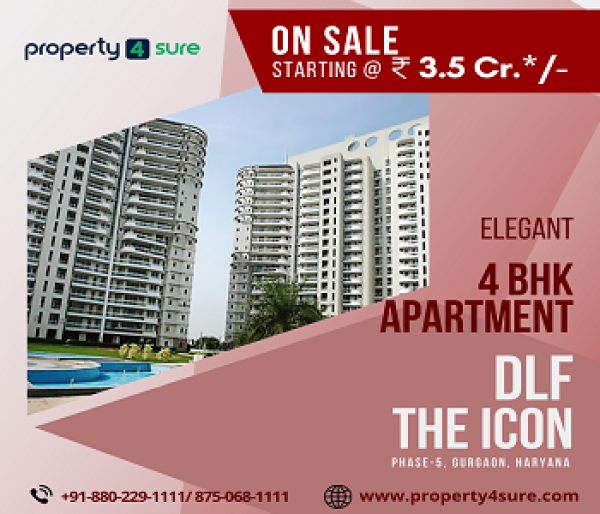 DLF The Icon for Sale on Golf Course Road Gurugram | 4 BHK Apartments