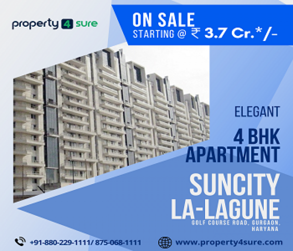 La Lagune for Sale on Golf Course Road Gurugram | 4 BHK Apartments