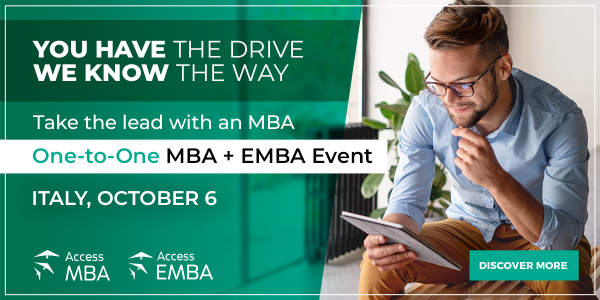 Meet top international MBA and EMBA programmes from home on October 6t