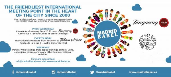 MADRIDBABEL: GREAT LANGUAGE EXCHANGES AND MANY OTHER ACTIVITIES