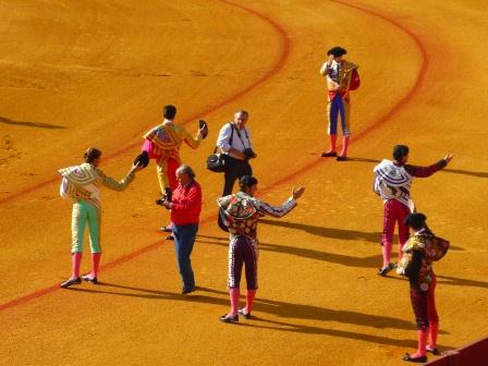 sunshine and siesta bull fighters