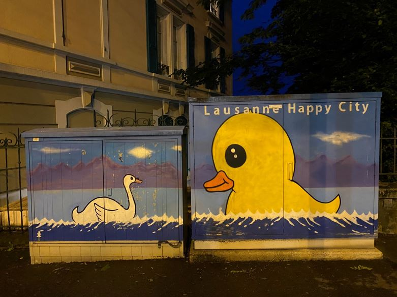 Street art in Lausanne - Credit: chaoticjourney.com