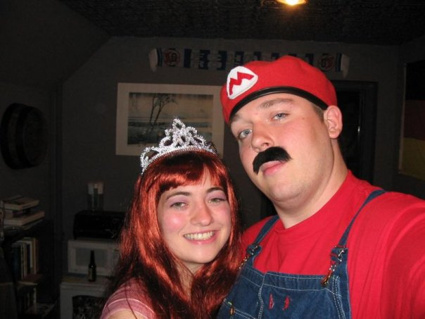 halloween costume princess peach mario
