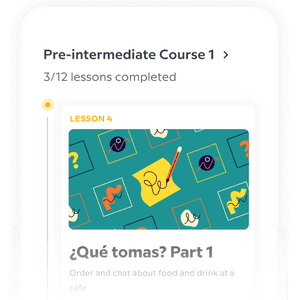 Expert made courses - app - Credit: Babbel
